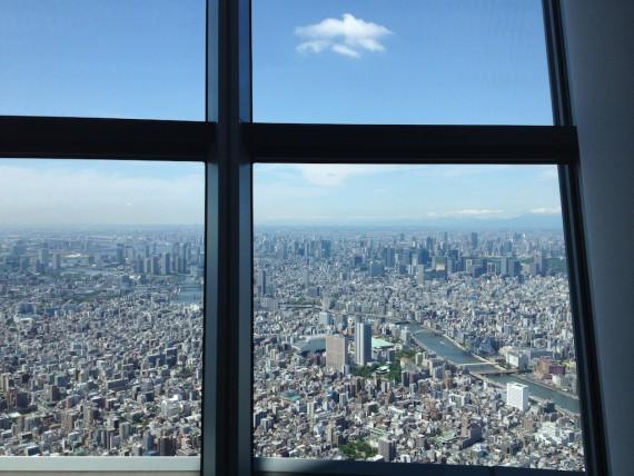 東京スカイツリーのソラカラポイントから見た南側の景色
