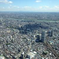 東京スカイツリーの展望台から見る景色