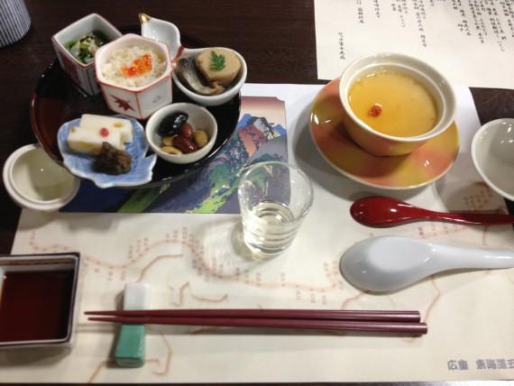富士見苑の夕食その1