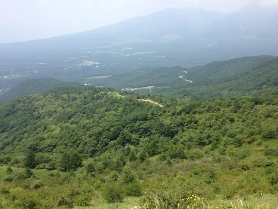 飯盛山の頂上から見下ろした風景