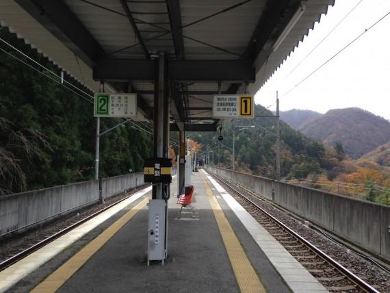 川治温泉駅のホーム