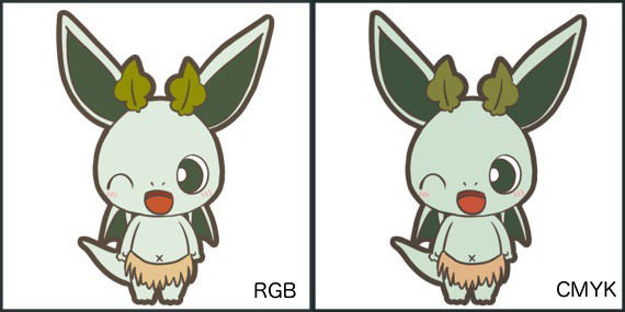 RGBとCMYKで書き出した時の比較