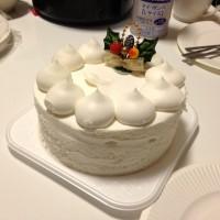 当日買った4号サイズのクリスマスケーキ