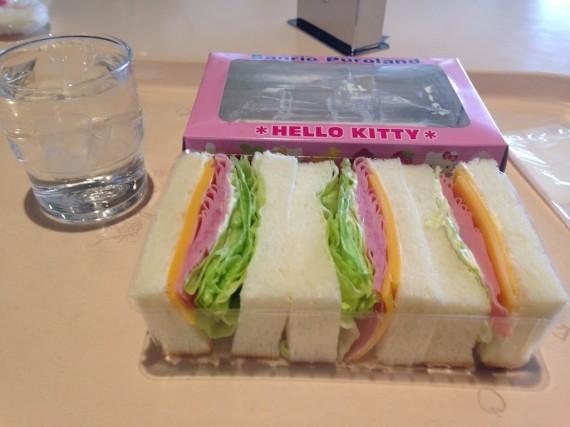 サンドウィッチと普通の水の組み合わせ