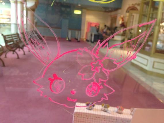 わくわく広場でルビーちゃんを描いた