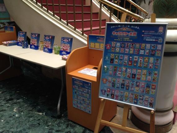 サンリオピューロランドでのキャラクター投票所