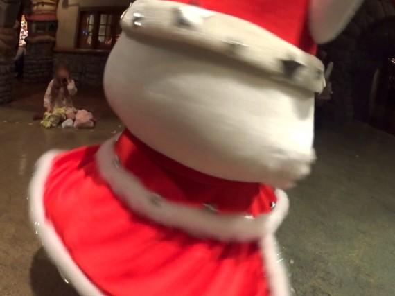 サンタな姿のルビーちゃんのクルクルッ!