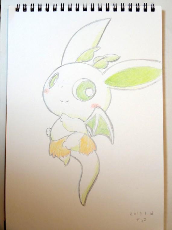 急いで描いたカッシーくんのスケッチブックの絵