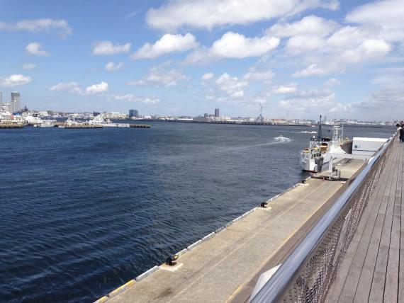 大さん橋から見える海