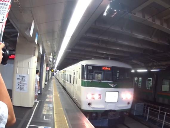 今回乗る団体列車