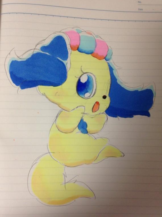 24色セットで描いたサフィーちゃん