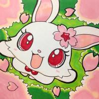 桜を見て笑顔を見せるルビー