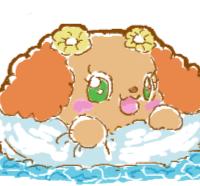 浮き輪で浮くプレーズ