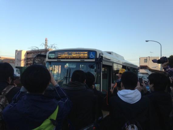 色んな行先を表示していた東武バス