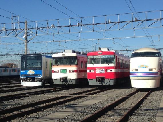 東武ファンフェスタ2013の車両撮影会 左側