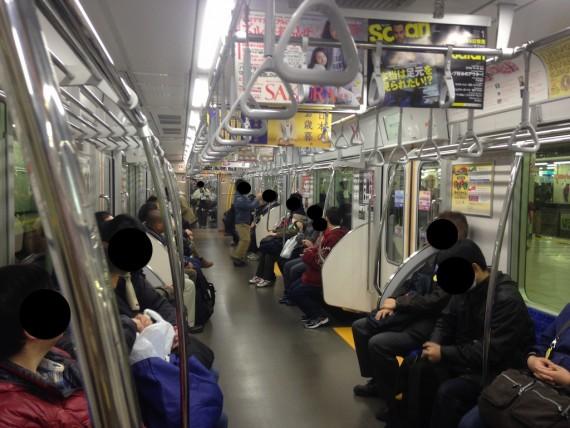 東武ファンフェスタ号の車内