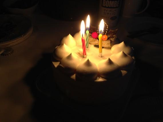 友人の好意で誕生日祝い