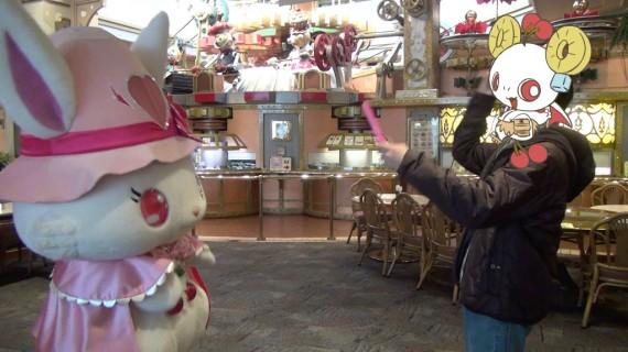 ルビーちゃんと一緒にリリーボンボンズのマーチングパレードのダンス