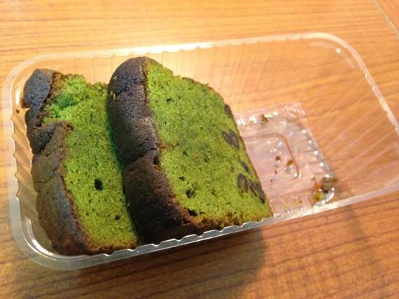 深谷で買ったらしい抹茶味のパンケーキ