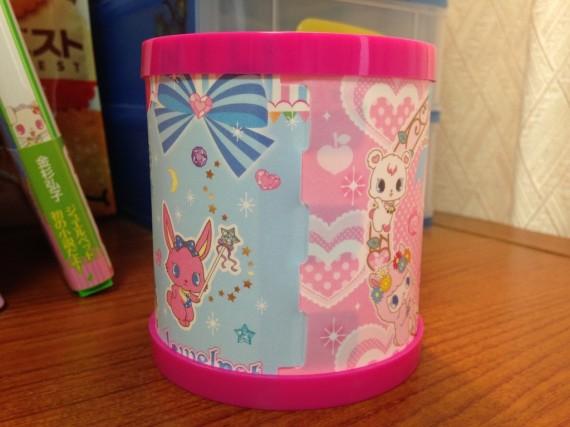 青とピンクのキャラクターシートのつなぎ目部分