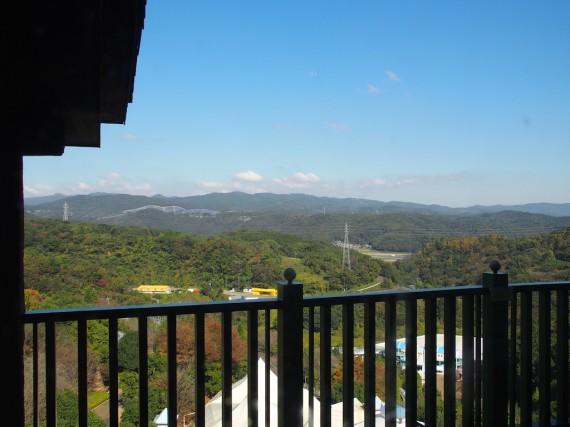 ハーベストテーブルから見る外の景色