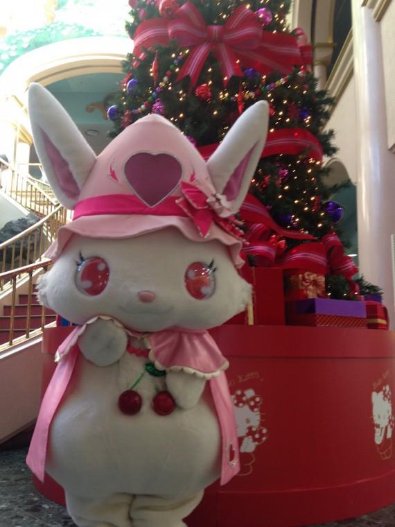 クリスマスツリーとルビーちゃん