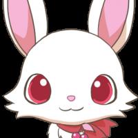 赤いリボンを身につけた謎のウサギ