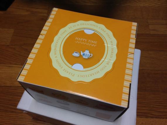 ケーキが入っている箱