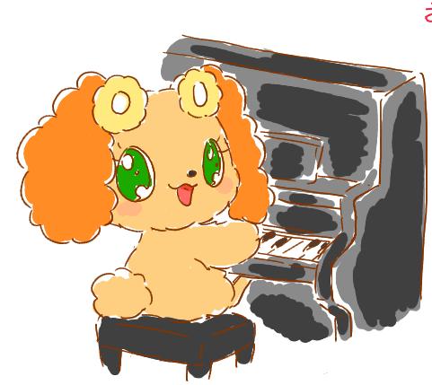 ピアノを弾くプレーズ
