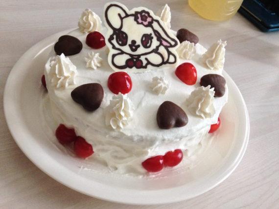 ルビーちゃんのケーキが完成