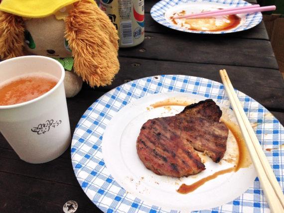 お肉とビールとプレーズ