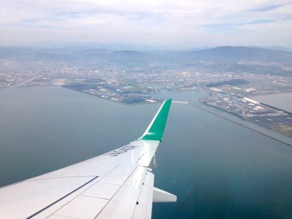 佐賀空港付近の上空