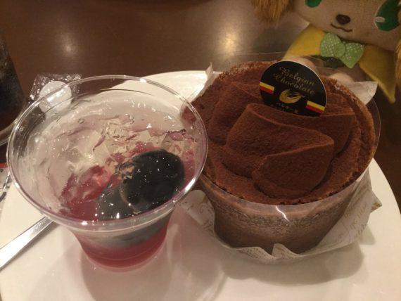 ゼリーとチョコケーキの2皿目