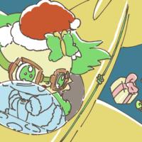 サンタ姿のペリドット