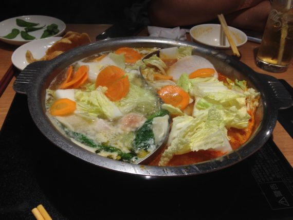 食材のプールと化したお鍋
