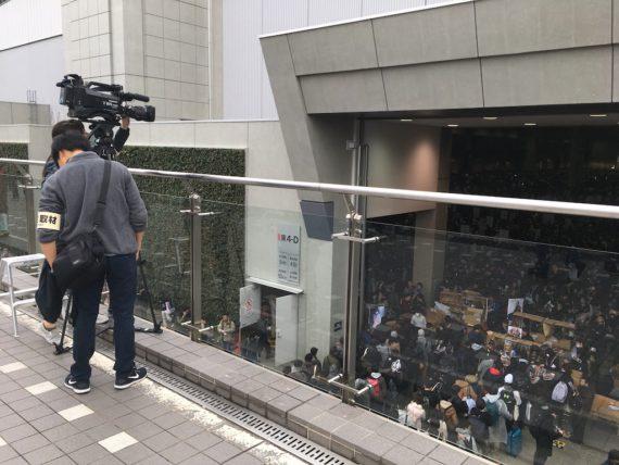TBSのカメラが会場を撮影中