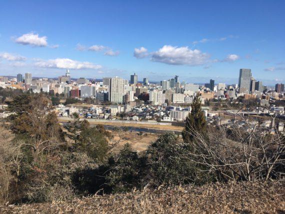 伊達政宗が眺める仙台の風景