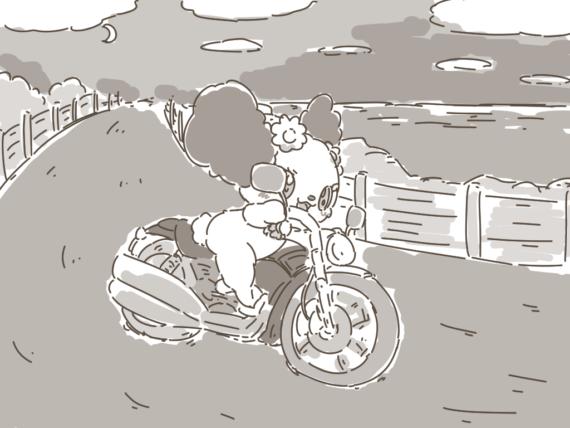 バイクを乗り回すプレーズ