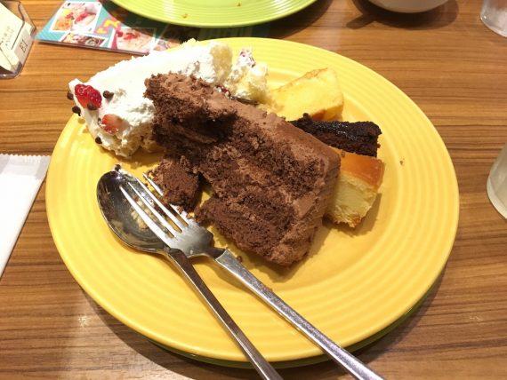 雑に盛られても美味しいケーキ