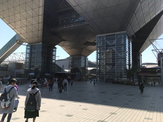 東京ビッグサイトの西棟入り口