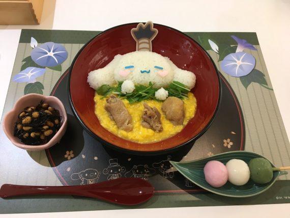 紋次郎の親子丼(おばんざい・三色団子付)
