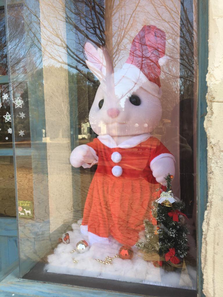 クリスマス衣装のショコラウサギちゃん