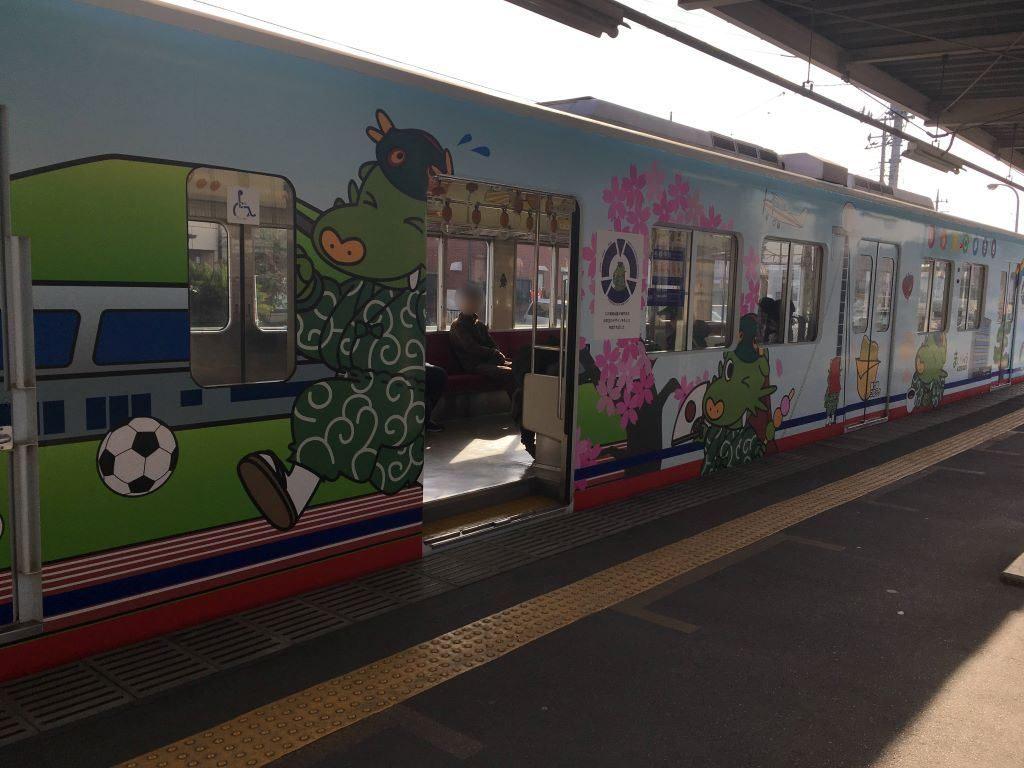 関東鉄道竜ケ崎線のまいりゅうラッピング列車