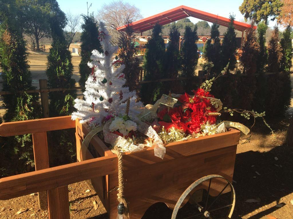 シルバニアパーク内の施されたクリスマスの装飾