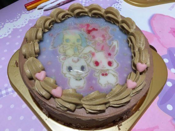 チョコレートクリームのジュエルペットケーキ