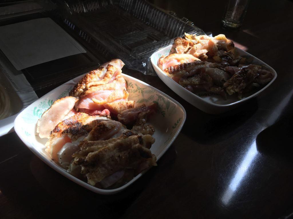 鶏肉のたたきの盛り合わせ