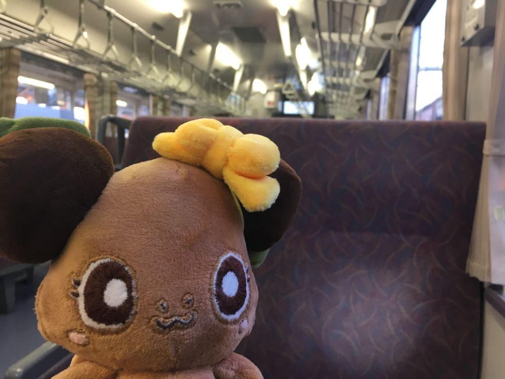 ディーゼルな電車の中