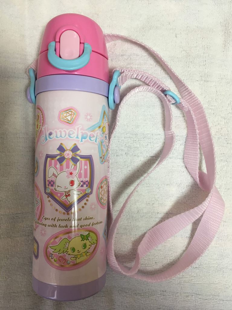 ワッペン柄の水筒