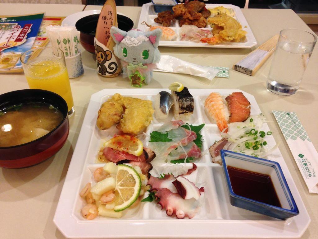 花菱ホテルでの夕食(その1)