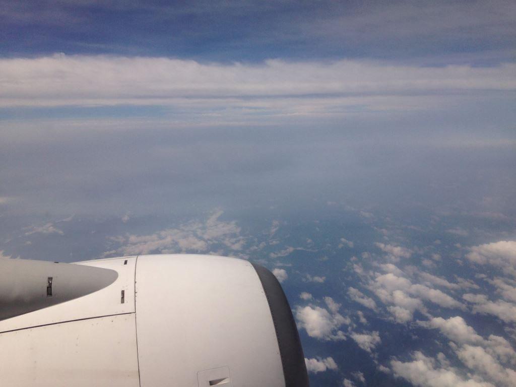 羽田空港から大分空港に移動中